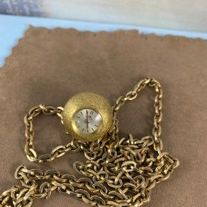 Vintage Accessories - Vintage Bucherer Orb 17 Jewel 14 Karat Gold Chain